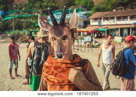 India Goa - February 2 2016 Annual Freak Carnival in Arambol