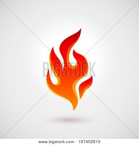 Abstract Symbol of Fire flames Logo Template. Icon for Design