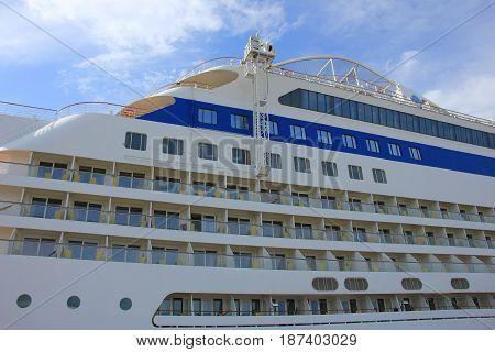 IJmuiden the Netherlands -April 30th 2017: Aida Sol detail of passenger cabins