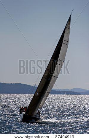 Sailing along the adriatic coast in Croatia