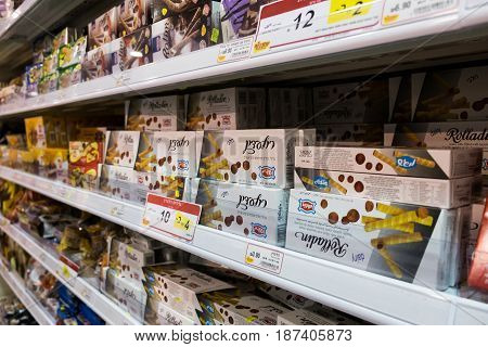 Sweet Packs For Sale At Israeli Food Supermarket