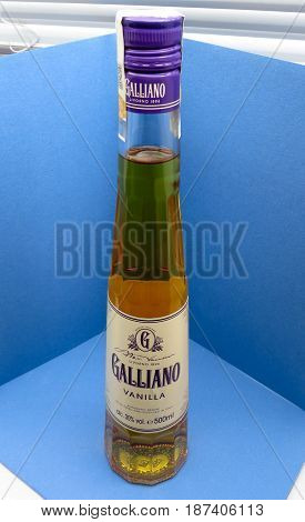 Bottle Of Galliano Herb Liqueur