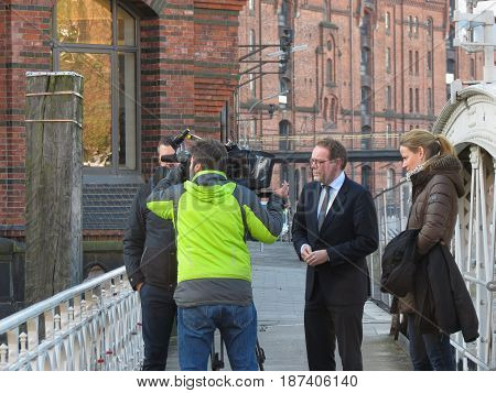 Interview With Politician In Hamburg