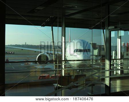 Boeing 777-300 Er Ready For Boarding