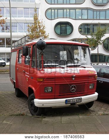 Fire Brigade Vehicle In Hamburg