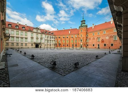 Royal Castle the inner yard Warsaw Poland daily photo .