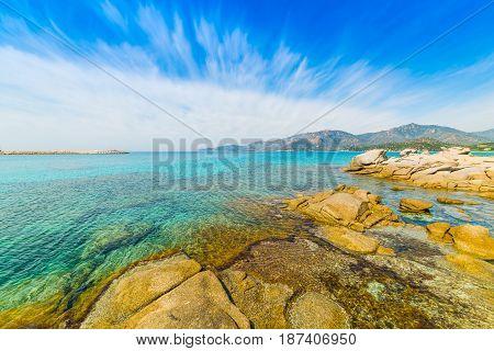 Spiaggia del Riso in Villasimius. Sardinia Italy