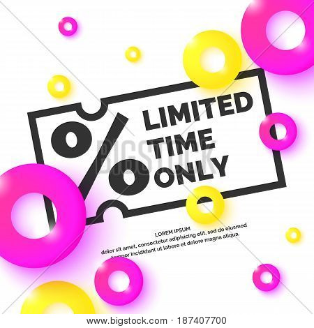 Original concept poster discount. Limited time only. Vector illustration