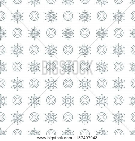 Winter Seamless Pattern With  Snowflakes And Circles.