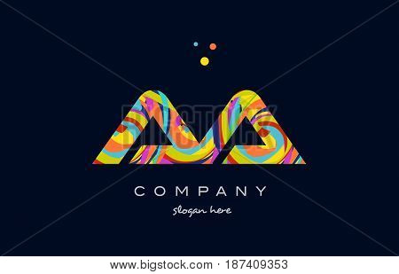 Aa A Colorful Alphabet Letter Logo Icon Template Vector