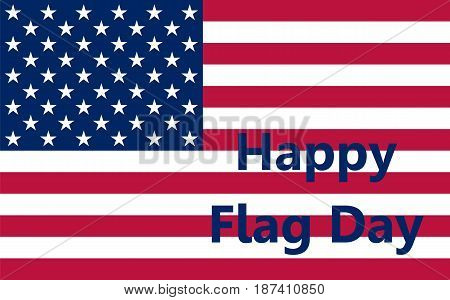 Flag United States, vector illustration Political symbol