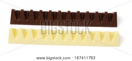 chocolate candies sweets isolated on white background