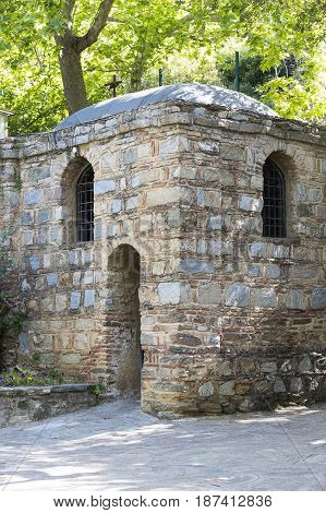 EPHESUS, TURKEY - 6 MAY , 2017: The House of the Mother of God in Turkey, visited from around the world by pilgrims with requests for help.