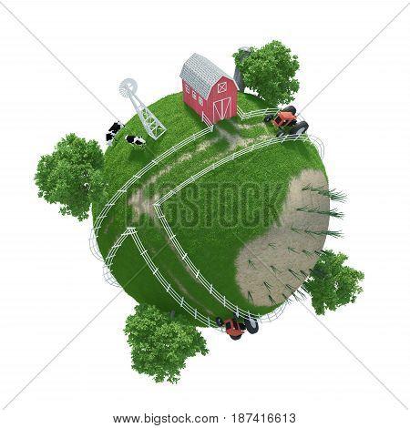 3D Planet Farm ( version 3 )