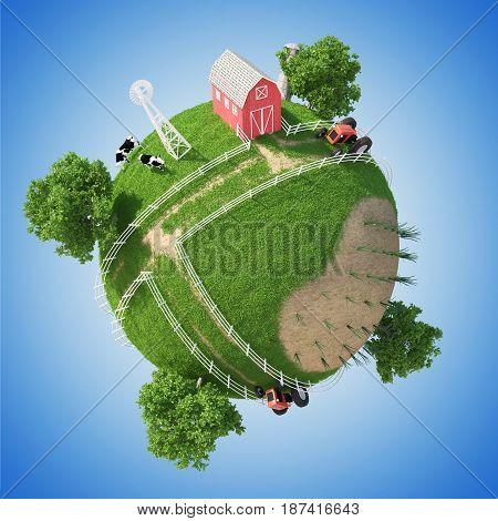 3D Planet Farm ( version 2 )