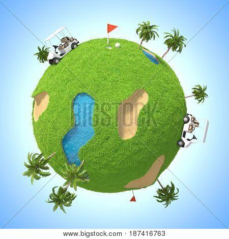 3D Planet Golf ( Cartoon model )