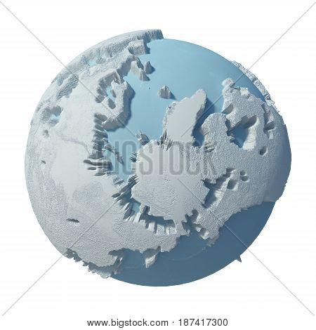 3D Winter Planet ( Concept Globe Model )