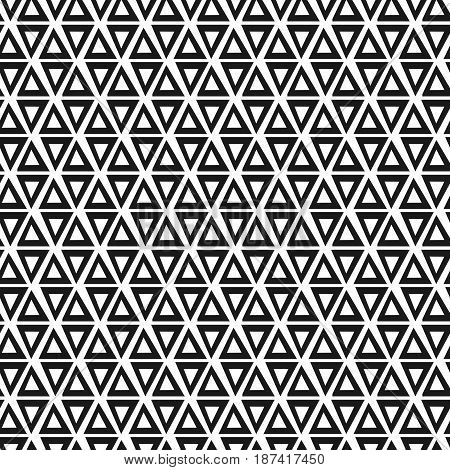 Geometric triangle seamless pattern. Fashion graphic design. Vector illustration. Background design. Modern stylish abstract texture. Template for print textile wrapping decoration