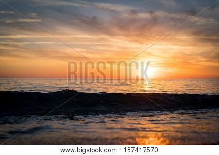 Sea summer sunset