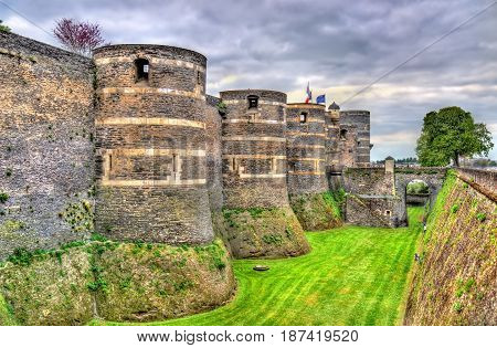 Angers Castle in the Loire Valley - France, Maine-et-Loire