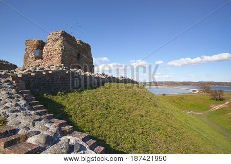 Ruins of Kalo castle at Mols Bjerge National Park, Djursland, Jutland, Denmark
