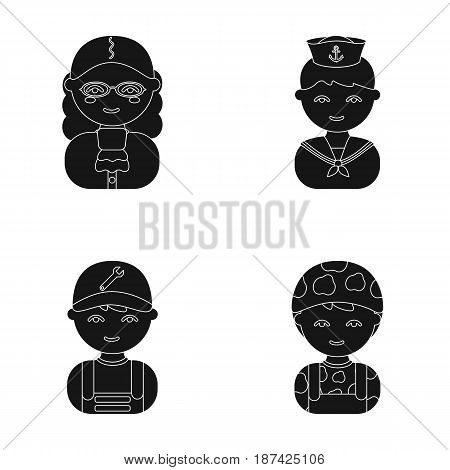 Judge, sailor, soldier, mechanic.Profession set collection icons in cartoon style vector symbol stock illustration