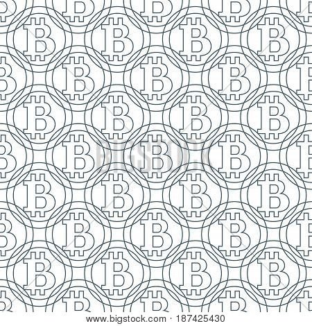 Geometric Pattern Of Colored Bitcoins