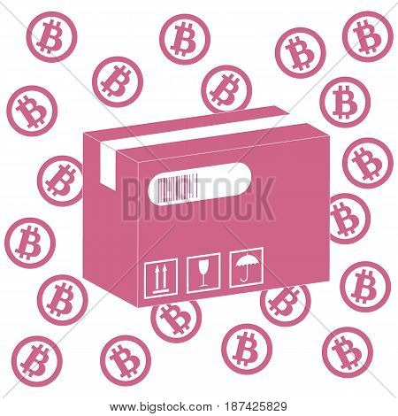 Picture Describing The Possibilities Of Using Bitcoin As A Means Of Payment: Bitcoin And The Box Wit