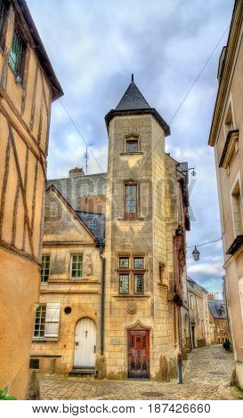 Buildings in the old town of Angers - France, Maine-et-Loire
