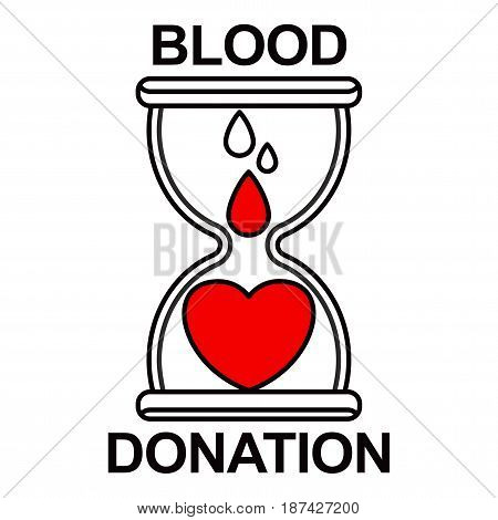 Donate Blood Hourglass Color Icon