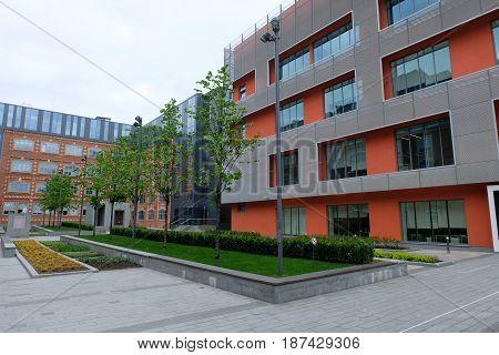 Business Center Bolshevik - backyard garden view - Moscow, Russia