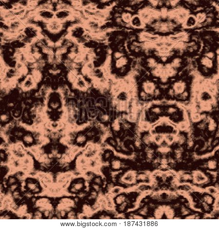 Seamless Abstract Pattern In Beige And Black Tones