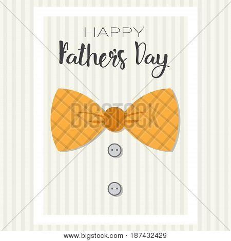 Happy Father Day Family Holiday Greeting Card Poster Flat Vector Illustration