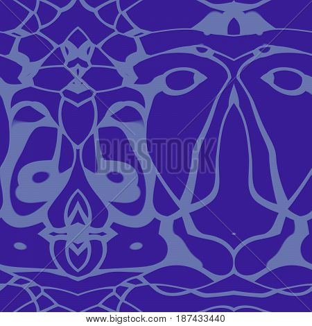 Seamless Abstract Pattern In Sky Blue And Navy Blue Tones