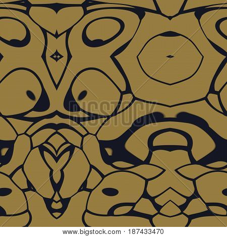 Seamless Abstract Pattern In Black And Yellow Tones
