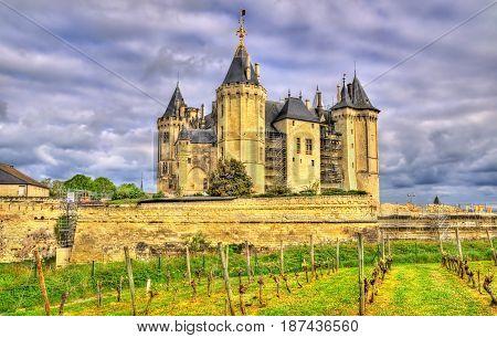 Chateau de Saumur, one of the Loire Valley castles, France