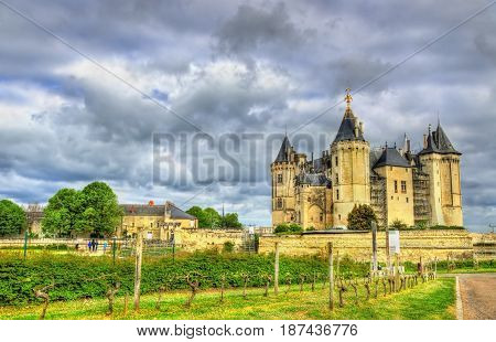 Chateau de Saumur, one of the Loire Valley castles, France
