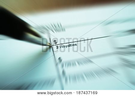 Royalties Form Zoom Burst High Quality Stock Photo