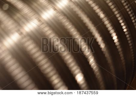 A dryer tube close up image with light