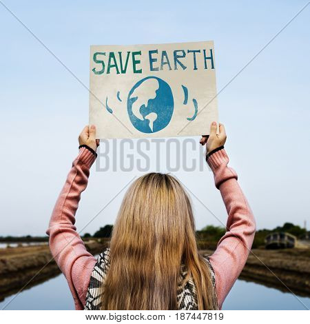 Save Earth Environment Protect Support Graphic
