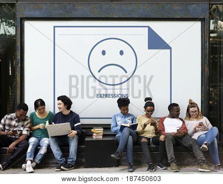 Expressions Sad Face Icon Emotion Sadness Emoticon