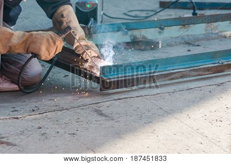 Tame Welder. The Welder Welds Iron. The Welder Welds Metal.