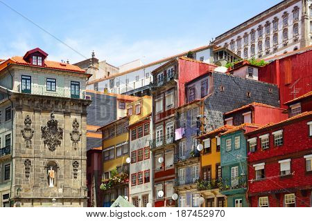 Colorful houses in Porto, Portugal