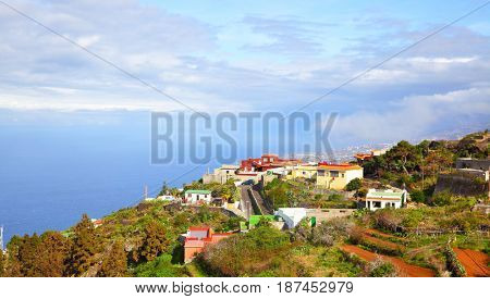 Picturesque view of small village on coast of Tenerife, Canary Islands