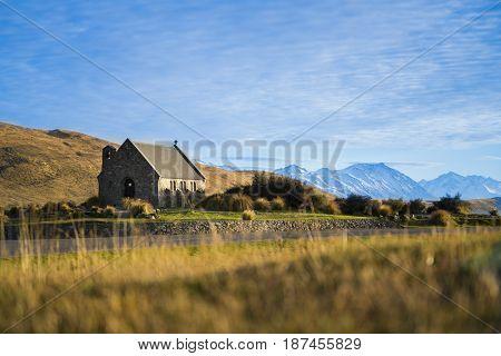 Church of the Good Shepherd at Lake Tekapo New Zealand South Island.