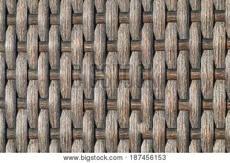 Dark, striped texture of a chair