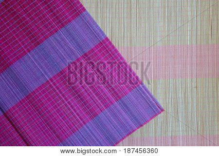 Background of bamboo mat plate, Colorful pattern, Bamboo texture, Blank space of bamboo mat, Japanese bamboo mat