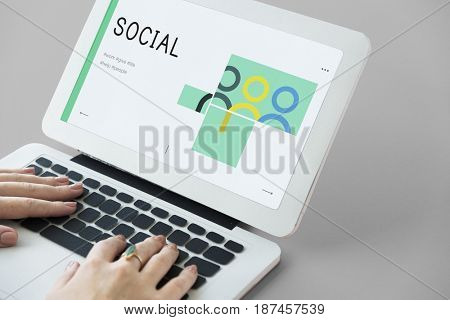 social fundraising for charity foundation on laptop