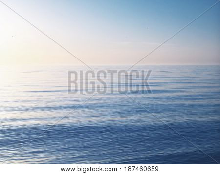 Beautiful sky background on sea. Composition of nature.
