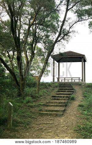 Outdoor Pavilion Staircase Lane In Mountain